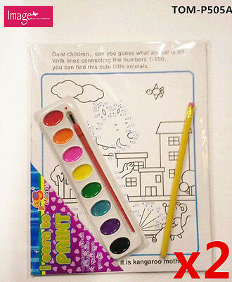 2x Watercolor Painting Learn To Paint Kids Drawing Starter Set (P505Ax2)