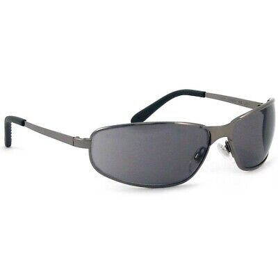 Uvex Tomcat Safety Glasses Metal Frame/Gray Lens 5940