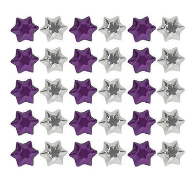 100 Purple And Silver Chocolate Stars - Wedding Parties Favours Christmas