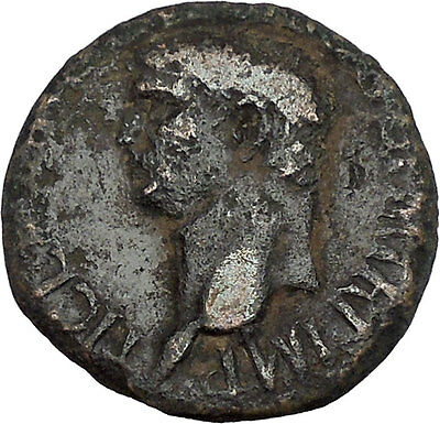 Claudius 41AD Rare Big Authentic Ancient Roman Coin Minerva Wisdom Cult i42211