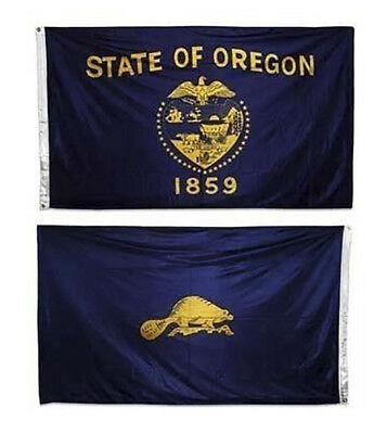 3x5 State of Oregon Double Sided Nylon Flag 3ft x 5ft House Banner