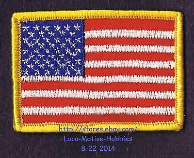 LMH PATCH Woven Badge  USA American FLAG United States America SHIELD Crest used