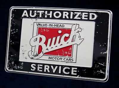 Buick Authorized Service *US MADE* Embossed Metal Tin Sign -Garage Shop Man Cave