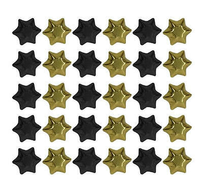 100 Black And Gold Foil Chocolate Stars - Wedding Favours Parties Candy Buffet