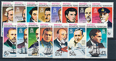 British Antarctic Territory 1973 Definitives Sg44/58 Mnh