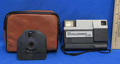 Vintage Kodak Tele Challenger Disc Camera With Carrying Case & 2 Discs