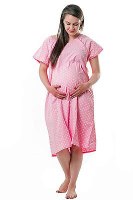 New! Designer Hospital Maternity Delivery/Birthing/Laboring Gown (Snap Closures)
