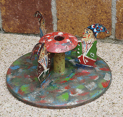 Vintage Metal Christmas Tree stand - Dwarfs  - first half 20th century  (# 3382)