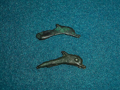 Rara coppia di antiche monete greche 500 A.C/Rare pair ancient greek bronze coin