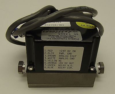 "Applied Materials 0227-43108 Flow Switch, 1/4"" NPT, Proteus 203SS24F3 SS Back"