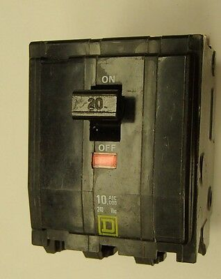 Square D  QOB3020  Bolt-on Circuit Breaker 20 Amps 3-Pole 240V