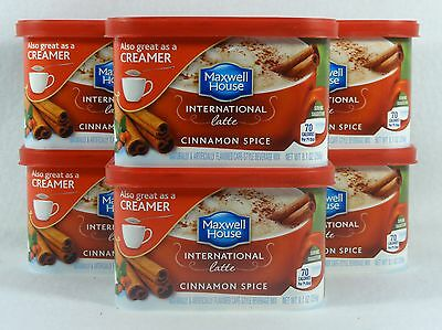 6 Maxwell House CINNAMON SPICE International Latte Hot Drink Mix