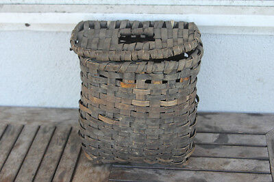 Penobscot Indian BASKET Fishing Creel from Maine Native American Basketry