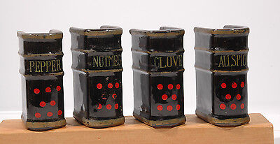 Book Volumes - Spice, Salt & Pepper Shakers vintage Japanese - Really cool