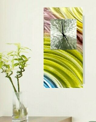 Statements2000 Metal Wall Clock Art Abstract Pastel Spring Decor Jon Allen