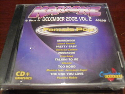 Chartbuster 6+6 Karaoke Disc 40298 Dec 2002 Female Pop Cd+G  Multiplex Sealed