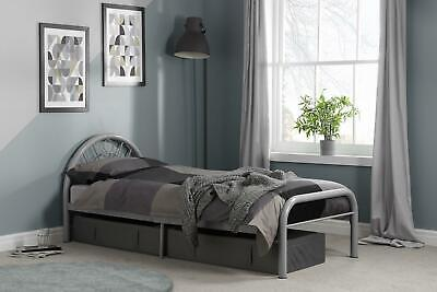 """Solo Silver Single Metal 3'0"""" 3ft 90cm Bed Frame New"""