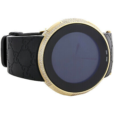 dd7754c765f Diamond Gucci I-Gucci Watch Digital Grammy Edition YA114215 Black Gold 2.5  CT.