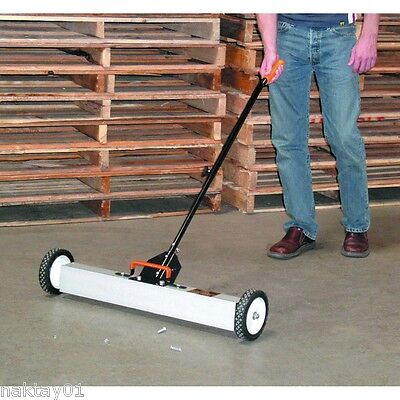 "New 30"" Magnetic sweeper with wheels. 50 lbs pull. Clear nails screws and scrap!"