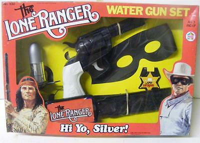 RARE THE LONE RANGER WATER GUN PLAY SET 1981 HG INDUSTRIES #930 MINT CONDITION!