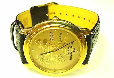 SEIKO 35mm LIMITED EDITION STEAMBOAT WILLIE MICKEY MOUSE DISNEY WATCH 7N00-7A89