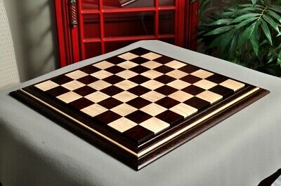 "Signature Contemporary II Chess Board - African Palisander/ Curly Maple - 2.5"" S"