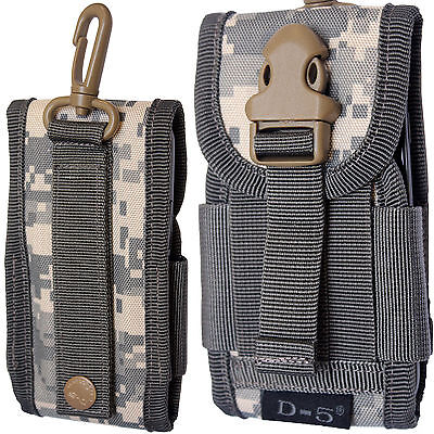Universal Army Bag Digital Grey Camouflage Belt Loop Hook Cover Holster Pouch