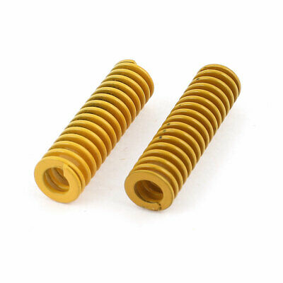 2Pcs Lighter Load Yellow Spiral Stamping Compression Die Spring 10x35mm