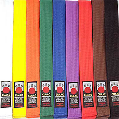 Cimac 45mm Martial Arts Level Belts All Colours Available In 3 Lengths