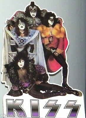 KISS GENE SIMMONS UNMASKED PROMO CARDBOARD STANDUP STANDEE CUTOUT POSTER 1980S