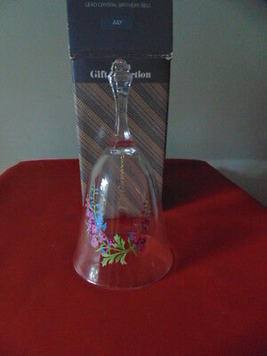 Vintage Bell Created In France Lead Crystal Birthday July