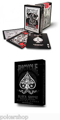 2 mazzi Carte Bicycle Black Ghost + Black Tiger Red by Ellusionist