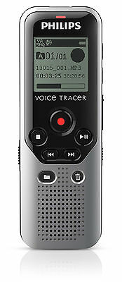 Philips DVT1200/00 Voice Tracer DVT1200 4GB Digital Voice Recorder USB One Touch