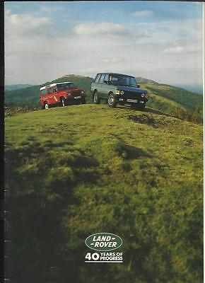 40 Years Of Land Rover 'sales Brochure' @ 1988