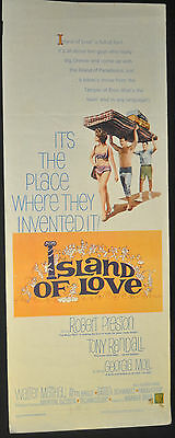 Island of Love Original 14x36 U.S. Insert Movie Poster - (1963) ITB WH