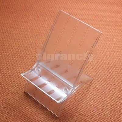 Lot 1- 50pcs Clear Mobile Cell Phone Show Rack Wide Display Holder Stand Mounts