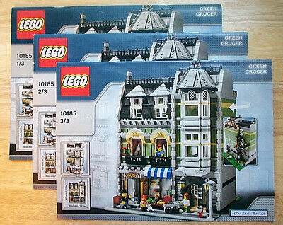 Lego 10185 INSTRUCTION BOOKS for Green Grocer Sculpture * BOOKS ONLY, NO LEGO