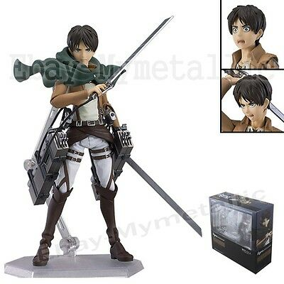 """Attack on Titan Eren Yeager 13cm/5.2"""" PVC Action Figure New In Box #1207"""