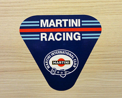 MARTINI RACING CLUB STICKERS 50mm - PORSCHE LANCIA, LE MANS, F1 DECAL