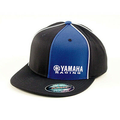 Factory Effex Yamaha Fork Flex-Fit Hat Black, Large//X-Large by Factory Effex