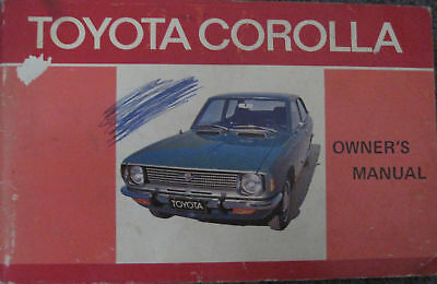 Toyota Corolla Owners Manual Very Clean Mark On Cover