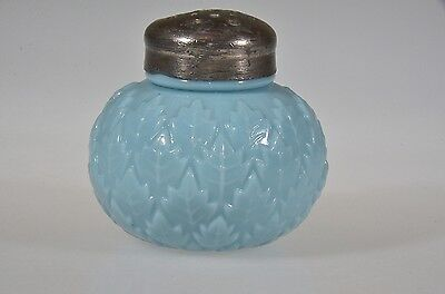 ca. 1899 LEAF COVERED BASE by Dithridge Lamp and Glass Co. BLUE Shaker