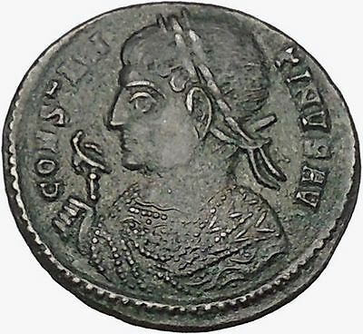 CONSTANTINE the GREAT 322AD Ancient Roman Coin Altar with globe atop i42983