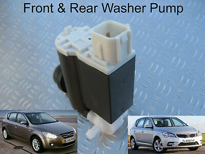 Front & Rear Windscreen Washer Pump For Kia Cee'd Hatchback 2006 through to 2012