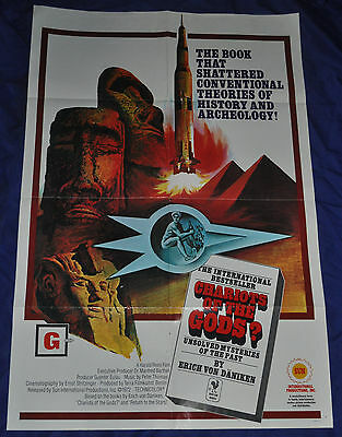 Chariot of the Gods Original 1sh One Sheet Movie Poster U.S. - Sun (1972) ITB WH