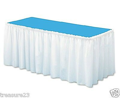 "White Table Skirting 29"" x 14' Cover Party Picnic  NO SALES TAX"