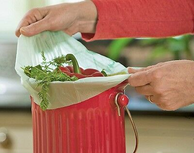 RSVP BioBags Compost Pail Liners 1 Gal/6L (50 Count) Biodegradable GMO Free