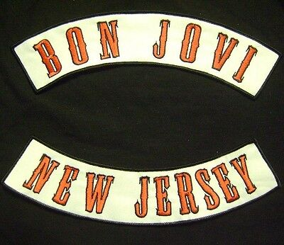 Jon Bon Jovi Top Bottom Rocker 1995 Nj Wembley Stadium Velcro® Brand Patch Set