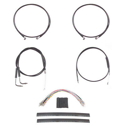 "Stainless Cable /& Brake Line Bsc Kit 20/"" Apes 1990-1995 Harley-Davidson Softail"