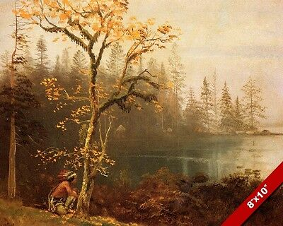 The Indian Scout Native American Landscape Oil Painting Art Print Real Canvas